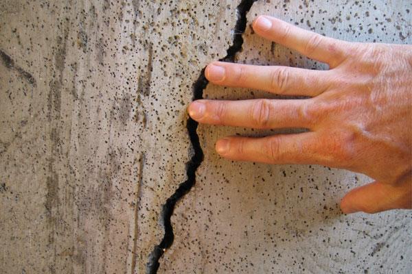 Потрескался бетон