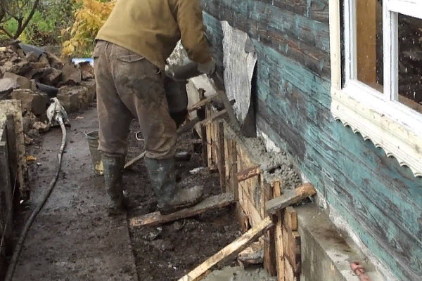Усиление бетоном