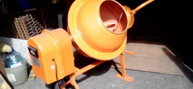 Чистка бетономешалки